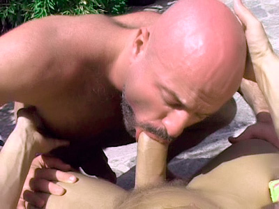 Bald Gay Bear Gives clitoral